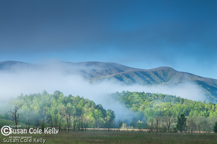 A clearing storm in Cades Cove, Great Smoky Mountains National Park, Tennesee, USA