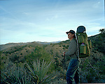 Cima Dome with The Desert Survivors.Cima Dome.Members of the Desert Survivors club take a 4 day hike into the Cima Dome area of the Mojave Desert in California. Members walk through the desert with their own gear, food and water. No cell phones or radio were allowed on the trek.