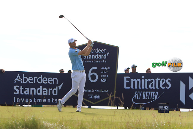 Bernd Wiesberger (AUT) on the 6th during Round 4 of the Aberdeen Standard Investments Scottish Open 2019 at The Renaissance Club, North Berwick, Scotland on Sunday 14th July 2019.<br /> Picture:  Thos Caffrey / Golffile<br /> <br /> All photos usage must carry mandatory copyright credit (© Golffile | Thos Caffrey)
