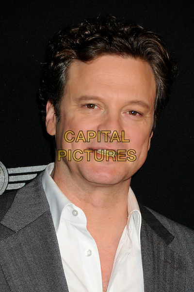 COLIN FIRTH .25th Annual Santa Barbara International Film Festival - Outstanding Performance of the Year Award presented to Colin Firth held at the Arlington Theatre, Santa Barbara, California, USA, .13th February 2010..SBIFF portrait headshot white shirt grey gray  .CAP/ADM/BP.©Byron Purvis/Admedia/Capital Pictures