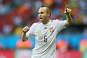 Andres Iniesta (ESP), <br /> JUNE 13, 2014 - Football /Soccer : <br /> 2014 FIFA World Cup Brazil <br /> Group Match -Group B- <br /> between Spain 1-5 Netherlands <br /> at Arena Fonte Nova, Salvador, Brazil. <br /> (Photo by YUTAKA/AFLO SPORT) [1040]