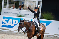 GER-Jessica von Bredow-Werndl rides TSF Dalera BB during the Deutsche Bank Prize, Grand Prix Dressage of Aachen. Final-3rd. 2019 GER-CHIO Aachen Weltfest des Pferdesports. Sunday 21 July. Copyright Photo: Libby Law Photography