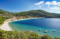 The beach Panormos of Skopelos island, Greece