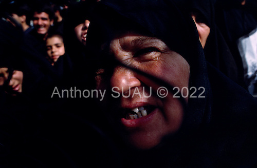 "Tehran, Iran .June 6, 1989..Mourners gather at the burial site for the funeral for the Grand Ayatullah Sayid Ruhullah Musawi Khomeini at the Beheht-E-Zahra cemetery. His body is flown in by helicopter to this site but frenzied crowds prevent the first attempt to bury him. Late in the day, after some of the crowds were cleared, he is buried at this site.He died of heart attack on June 3, 1989...Khomeini was a senior Shi`i Muslim cleric, Islamic philosopher and marja (religious authority), and the political leader of the 1979 Iranian Revolution that saw the overthrow of Mohammad Reza Pahlavi, the last Shah of Iran. Following the revolution, Khomeini became the country's Supreme Leader?the paramount political figure of the new Islamic Republic...Khomeini was a marja al-taqlid, (source of imitation) and important spiritual leader to many Shia Muslims. He was also an innovative Islamic political theorist, most noted for his development of the theory of velayat-e faqih, the ""guardianship of the jurisconsult (clerical authority)"". He was named Time's Man of the Year in 1979 and also one of Time magazine's 100 most influential people of the 20th century."
