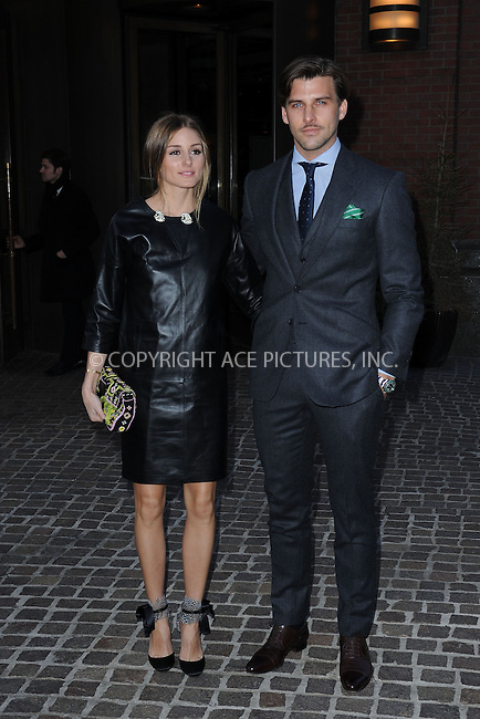 WWW.ACEPIXS.COM . . . . . .March 27, 2013...New York City...Olivia Palermo and Johannes Huebl attend  a screening of 'The Host' at Tribeca Grand Hotel on March 27, 2013 in New York City. ....Please byline: KRISTIN CALLAHAN - WWW.ACEPIXS.COM.. . . . . . ..Ace Pictures, Inc: ..tel: (212) 243 8787 or (646) 769 0430..e-mail: info@acepixs.com..web: http://www.acepixs.com .