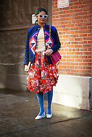 Preetma Singh attends Day 7 of New York Fashion Week on Feb 18, 2015 (Photo by Hunter Abrams/Guest of a Guest)