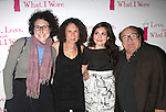 "Gracie Devito, Rhea Perlman, Lucy Devito & Danny Devito.attending the Opening Night After Party at Marseille Restaurant for ""Love, Loss and What I Wore""  as OffBroadway's Biggest Hit welcomes it's newest cast members..November 18, 2009."