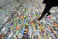 """Photokina in Cologne ist the World's biggest bi-annual photo fair..""""Bildermeer (Sea of Images)"""": An entire floor is covered with photographic prints."""