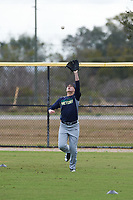 Canon Chester (12) from Portland, Texas during the Baseball Factory All-America Pre-Season Rookie Tournament, powered by Under Armour, on January 13, 2018 at Lake Myrtle Sports Complex in Auburndale, Florida.  (Michael Johnson/Four Seam Images)