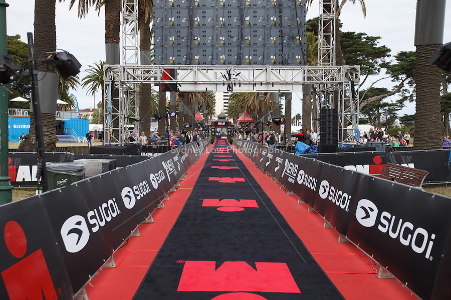 The finish straight at the IRONMAN Asia-Pacific Championship in Melbourne, Australia on Sunday March 23, 2013. (Photo Sydney Low / sydlow.com)