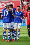 11.05.2019, BayArena, Leverkusen, GER, 1. FBL, Bayer 04 Leverkusen vs. FC Schalke 04 ,<br />  <br /> DFL regulations prohibit any use of photographs as image sequences and/or quasi-video<br /> <br /> im Bild / picture shows: <br /> Torjubel / Jubel / Jubellauf,    Schalke 1:1<br /> <br /> Foto &copy; nordphoto / Meuter