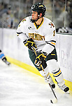 30 October 2010: University of Vermont Catamount defenseman Drew MacKenzie, a Junior from New Canaan, CT, in action against the University of Maine Black Bears at Gutterson Fieldhouse in Burlington, Vermont. The Black Bears defeated the Catamounts 3-2 in sudden death overtime. Mandatory Credit: Ed Wolfstein Photo