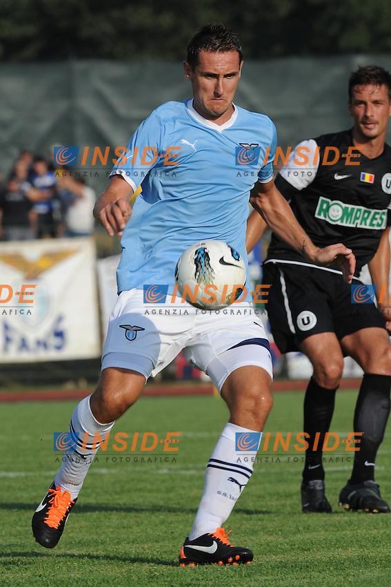 Miroslav Klose (Lazio).Lazio vs Cluj 4-1.Football / calcio.Fiuggi, 6/08/2011.Foto Insidefoto Antonietta Baldassarre