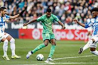 2nd February 2020; Estadio Municipal de Butarque, Madrid, Spain; La Liga Football, Club Deportivo Leganes versus Real Sociedad; Alexander Isak (Real Sociedad) shoots and scores to make it 0-1 in the 20th minute