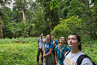 Occidental College students and faculty on a research trip to the La Selva Biological Station in Costa Rica, June 2017. The group studies plants and animals of the tropical rain forest in an intensive and immersive program.<br /> (Photo by Marc Campos, Occidental College Photographer)