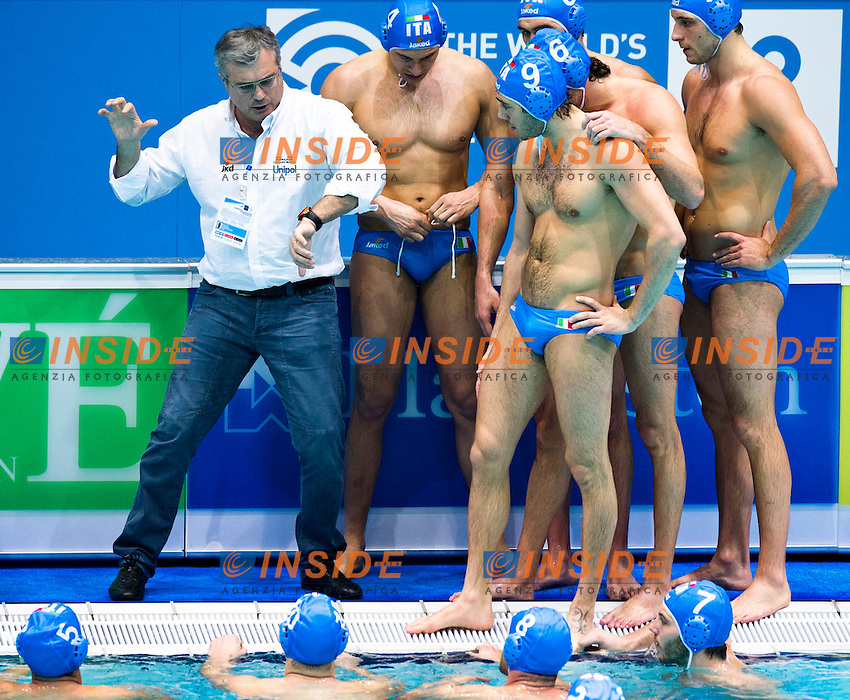 Eindhoven , Netherlands (NED) 17/1/2012.LEN European  Water Polo Championships 2012.Day 02 - Men.TUR  - ITA..Team..Photo Insidefoto / Giorgio Scala