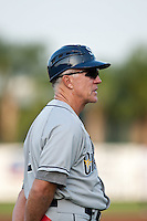 Jim Morrison (2) manager of the Charlotte Stone Crabs during a game vs. the Lakeland Flying Tigers May 11 2010 at Joker Marchant Stadium in Lakeland, Florida. Charlotte won the game against Lakeland by the score of 3-0.  Photo By Scott Jontes/Four Seam Images