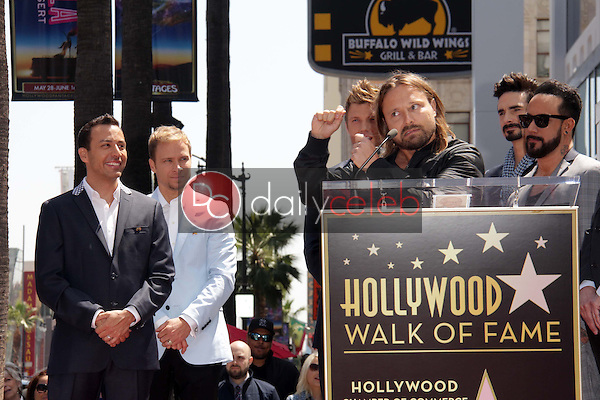"""Howie Dorough, Brian Littrell, Nick Carter, Max Martin, Kevin Richardson,  AJ McLean<br /> at the """"Backstreet Boys"""" Star on the Walk of Fame, Hollywood, CA 04-22-13<br /> David Edwards/Dailyceleb.com 818-249-4998"""