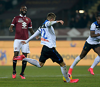 25th January 2020; Olympic Grande Torino Stadium, Turin, Piedmont, Italy; Serie A Football, Torino versus Atalanta; Josip Ilicic of Atalanta shoots and scores the goal for 0-5 in the 55th minute