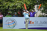 Kevin Kisner (USA) watches his tee shot on 13 during round 2 of the WGC FedEx St. Jude Invitational, TPC Southwind, Memphis, Tennessee, USA. 7/26/2019.<br /> Picture Ken Murray / Golffile.ie<br /> <br /> All photo usage must carry mandatory copyright credit (© Golffile | Ken Murray)
