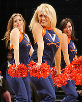Dec. 22, 2010; Charlottesville, VA, USA;  Virginia Cavaliers cheerleaders/dancers during the game at the John Paul Jones Arena. Seattle Redhawks won 59-53. Mandatory Credit: Andrew Shurtleff