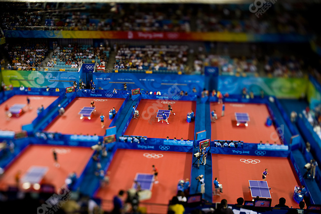 Table Tennis, PKU Gymnasium, Summer Olympics, Beijing, China, August 14, 2008