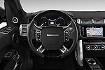 Car pictures of steering wheel view of a 2015 Land Rover RANGE ROVER Vogue 5 Door SUV Steering Wheel