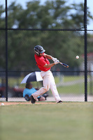 Garrett (Mac) Danford (64) of Sneads High School in Grand Ridge, Florida during the Under Armour Baseball Factory National Showcase, Florida, presented by Baseball Factory on June 12, 2018 the Joe DiMaggio Sports Complex in Clearwater, Florida.  (Nathan Ray/Four Seam Images)