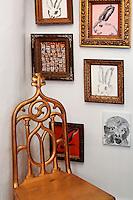 vintage golden chair