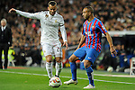 Real Madrid´s Jese Rodriguez and Levante UD´s Nabil El Zhar during 2014-15 La Liga match between Real Madrid and Levante UD at Santiago Bernabeu stadium in Madrid, Spain. March 15, 2015. (ALTERPHOTOS/Luis Fernandez)
