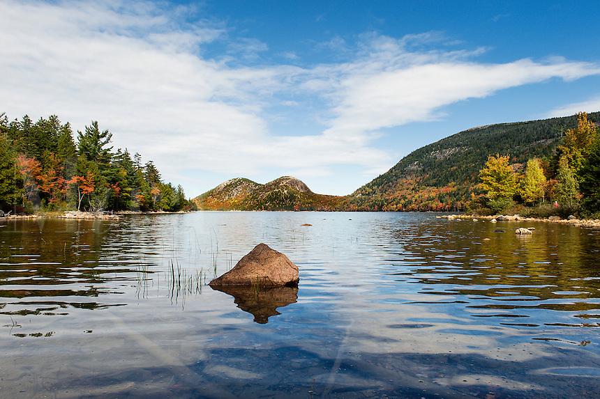 Jordan Pond and Bubble Mountain, Acadia National Park, Mt, Desert Island, Maine, USA