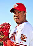 28 February 2010: Washington Nationals starting pitcher Livan Hernandez poses for his Spring Training photo at Space Coast Stadium in Viera, Florida. Mandatory Credit: Ed Wolfstein Photo