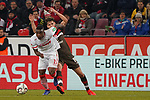 08.02.2019, RheinEnergieStadion, Koeln, GER, 2. FBL, 1.FC Koeln vs. FC St. Pauli,<br />  <br /> DFL regulations prohibit any use of photographs as image sequences and/or quasi-video<br /> <br /> im Bild / picture shows: <br /> Jhon Córdoba (FC Koeln #15),   im Zweikampf gegen  Luca Zander (St Pauli #19), <br /> <br /> Foto © nordphoto / Meuter