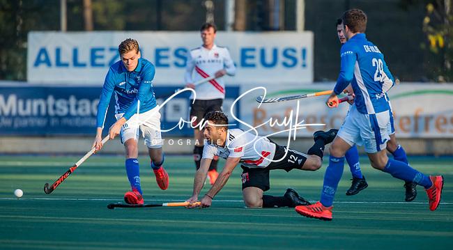 UTRECHT - Valentin Verga (Adam) met links Silas Lageman (Kampong) tijdens de hoofdklasse hockeywedstrijd mannen, Kampong-Amsterdam (4-3).  COPYRIGHT KOEN SUYK