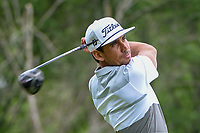 Rafael Cabrera Bello (ESP) watches his tee shot on 18 during round 3 of the AT&T Byron Nelson, Trinity Forest Golf Club, Dallas, Texas, USA. 5/11/2019.<br /> Picture: Golffile | Ken Murray<br /> <br /> <br /> All photo usage must carry mandatory copyright credit (© Golffile | Ken Murray)