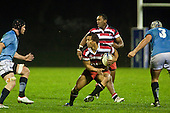 Tim Nanai Williams steps his way through the Northland forwards. Counties Manuaku Steelers vs Northland pre-season Air New Zealand NPC rugby game played at Bayer Growers Stadium Pukekohe on July 24th 2009..Northland won 10 - 3.