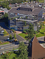 Aerial of office building in Federal Way, Washington