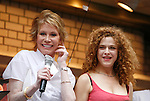 Mary Tyler Moore & Bernadette Peters<br />attending BROADWAY BARKS 10 : The 10th Annual Adopt-a-thon stage presentation in Shubert Alley, New York City.<br />( On Stage - Performance )<br />July 12, 2008
