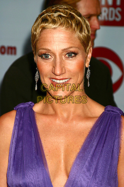 EDIE FALCO.58th Annual Tony Awards - Arrivals.Radio City Music Hall, New York City, New York .June 6, 2004 .headshot, portrait, purple, plunging neckline, cleavage.www.capitalpictures.com.sales@capitalpictures.com.©Capital Pictures