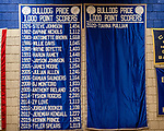 WATERBURY, CT. 10 January 2020-011020BS513 - The 1000 point scorers banner hangs at the Palace at Crosby High on Friday. Bill Shettle Republican-American