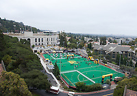 September 1, 2012: View of Memorial Stadium on top of Bowles Hall before Nevada Wolf Pack game at Memorial Stadium, Berkeley, Ca   Nevada defeated California 31 - 24