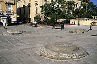 Floriana, Valetta, Malta. Old Grain Storage Pits.  Granaries capable of holding two years' supply of grain were maintained by the knights of the order of Saint John. to supply the city in the event of attack or blockade.