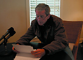 United States President George W. Bush delivers his weekly radio address from his ranch in Crawford, Texas Friday, December 28, 2001. <br /> Mandatory Credit: Susan Sterner / White House via CNP