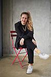 Sivan Ben Yishai sits for a portrait at Aufbau-Haus in Berlin, Germany on 28/03/2018. Sivan Ben Yishai is a writer and director living in Berlin. (Photo by Gregor Zielke)