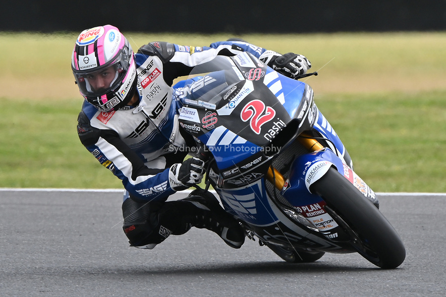 October 27, 2018: Jesko RAFFIN (SWI) riding the KALEX from the SAG Team during the Moto2 practice session three at the 2018 MotoGP of Australia at Phillip Island Grand Prix Circuit, Victoria, Australia. Photo Sydney Low