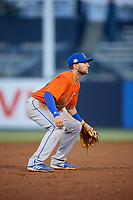 St. Lucie Mets third baseman Blake Tiberi (24) during a Florida State League game against the Tampa Tarpons on April 10, 2019 at George M. Steinbrenner Field in Tampa, Florida.  St. Lucie defeated Tampa 4-3.  (Mike Janes/Four Seam Images)