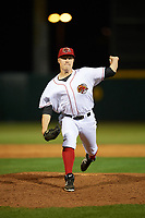 Florida Fire Frogs relief pitcher Corbin Clouse (37) delivers a pitch during a game against the Daytona Tortugas on April 6, 2017 at Osceola County Stadium in Kissimmee, Florida.  Daytona defeated Florida 3-1.  (Mike Janes/Four Seam Images)