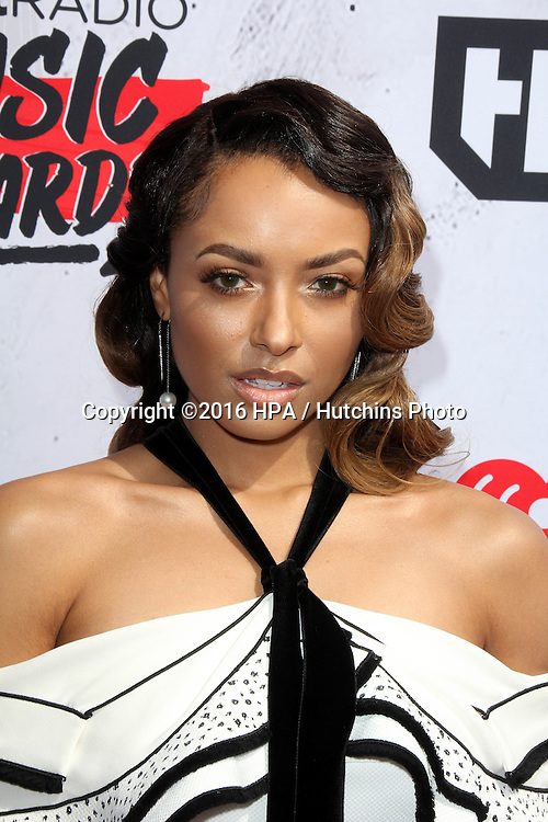 LOS ANGELES - APR 3:  Kat Graham at the iHeart Radio Music Awards 2016 Arrivals at the The Forum on April 3, 2016 in Inglewood, CA