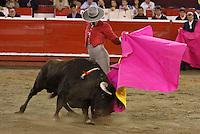 MANIZALES-COLOMBIA-11-013-2013- El Cid, toreo español durante festival Taurino en la Feria de Manizales, Colombia, enero 11 de 2013. El Cid, spanish bullfighter, during bullfighting festival in the Manizales fair, Colombia, on January 11, 2013  (Photo: VizzorImage/Cont.)...........