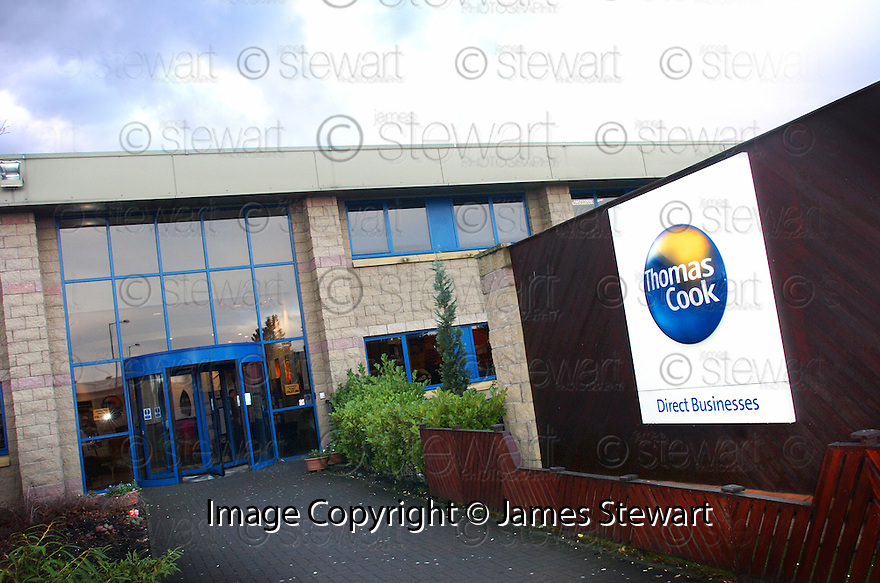 22/1/04          Copyright Pic : James Stewart.File Name : jspa04_thomas_cook.THOMAS COOK CALL CENTRE, LARBERT..PIC SHOWS : EXTERIOR OF CALL CENTRE.....James Stewart Photo Agency, 19 Carronlea Drive, Falkirk. FK2 8DN      Vat Reg No. 607 6932 25.Office     : +44 (0)1324 570906     .Mobile  : +44 (0)7721 416997.Fax         :  +44 (0)1324 570906.E-mail  :  jim@jspa.co.uk.If you require further information then contact Jim Stewart on any of the numbers above.........